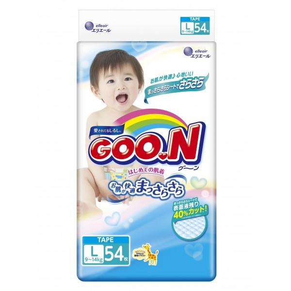 GOO.N Baby Windeln Gr. L (9–14 Kg) 54 Stück