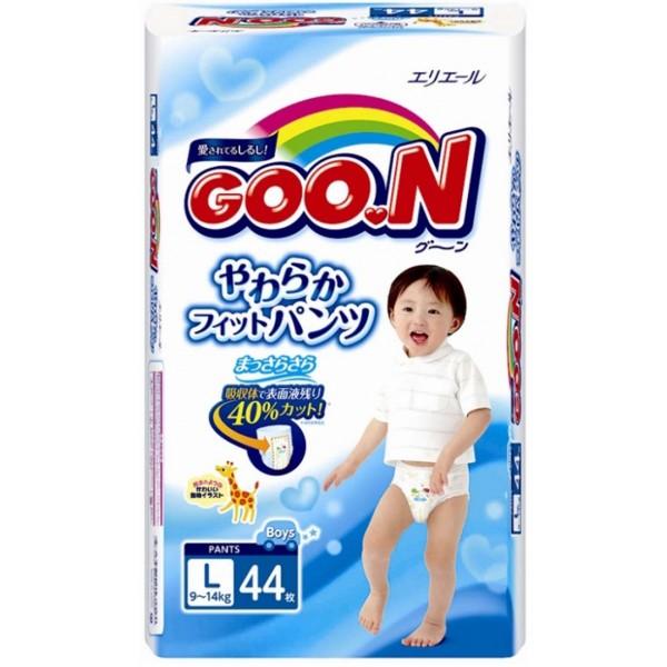 GOO.N Baby Windelhöschen für Jungen Gr. L (9-14 kg) 44 Stück