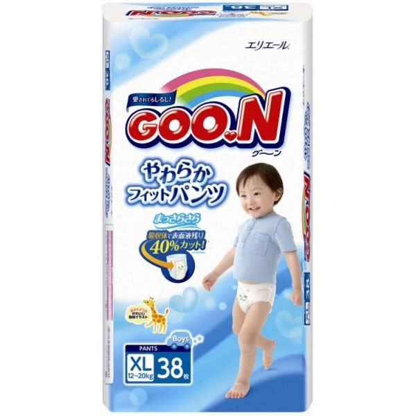 GOO.N Baby Windelhöschen für Jungen BIG Gr. XL (12-20 kg) 38 Stück