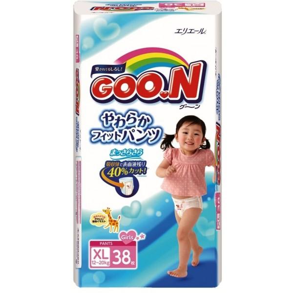 GOO.N Baby Windelhöschen für Mädchen BIG Gr. XL (12-20 kg) 38 Stück
