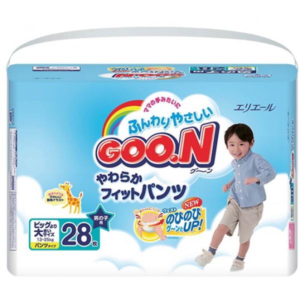 GOO.N Baby Windelhöschen für Jungen SUPER BIG Gr. XXL (13-25 kg) 28 Stück