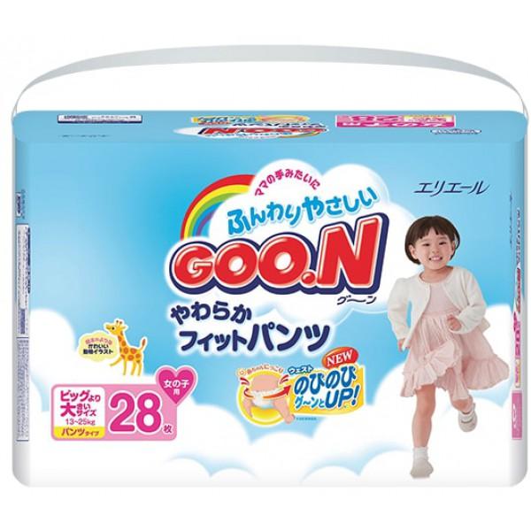 GOO.N Baby Windelhöschen für Mädchen SUPER BIG Gr. XXL (13-25 kg) 28 Stück