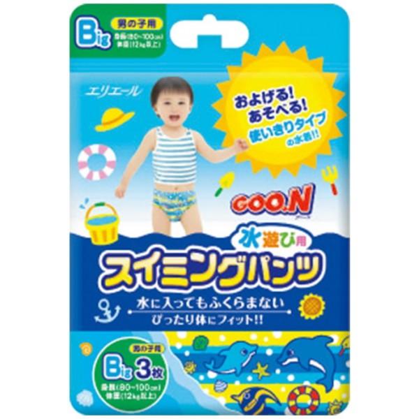 GOO.N Baby Schwimmwindeln BIG für Jungen Gr. XL (12-20 kg) 3 Stück
