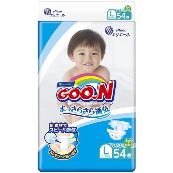 GOO.N Baby Windeln Größe L (9–14 kg) 54 Stück