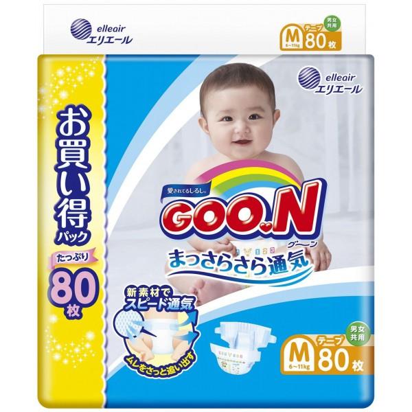 GOO.N Baby Windeln Größe M (6-11 kg) Jumbo Pack 80 Stück